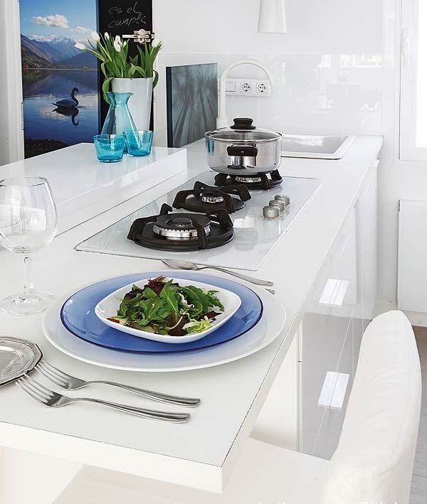 北欧65平米一居室餐厅吧台装修效果图欣赏