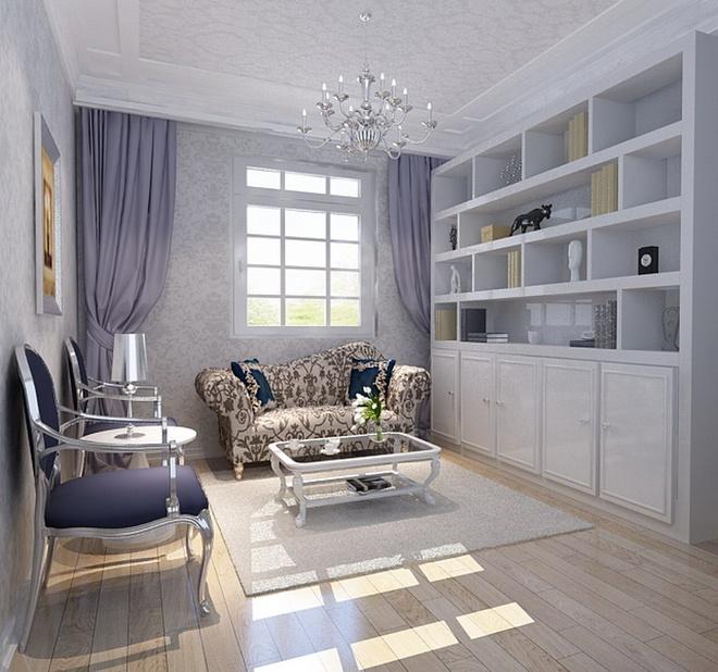 现代简约三居室书房储物柜梳妆台装修效果图欣赏