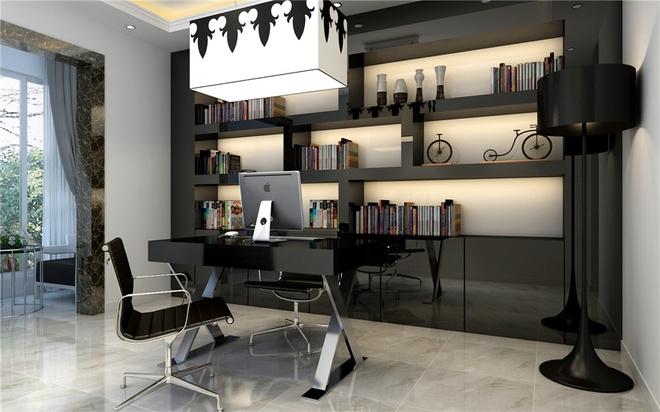 现代简约四居室书房储物柜梳妆台装修效果图大全2014图片