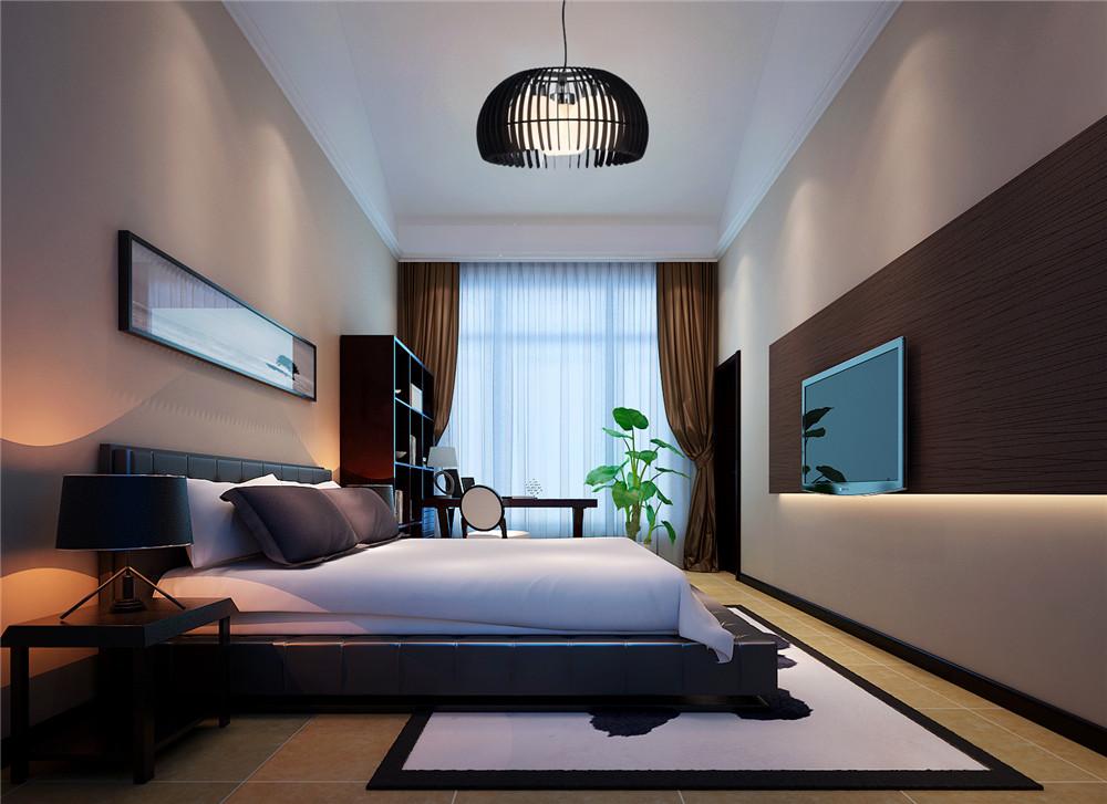 中式风格二居室卧室灯具装修效果图大全2014图片