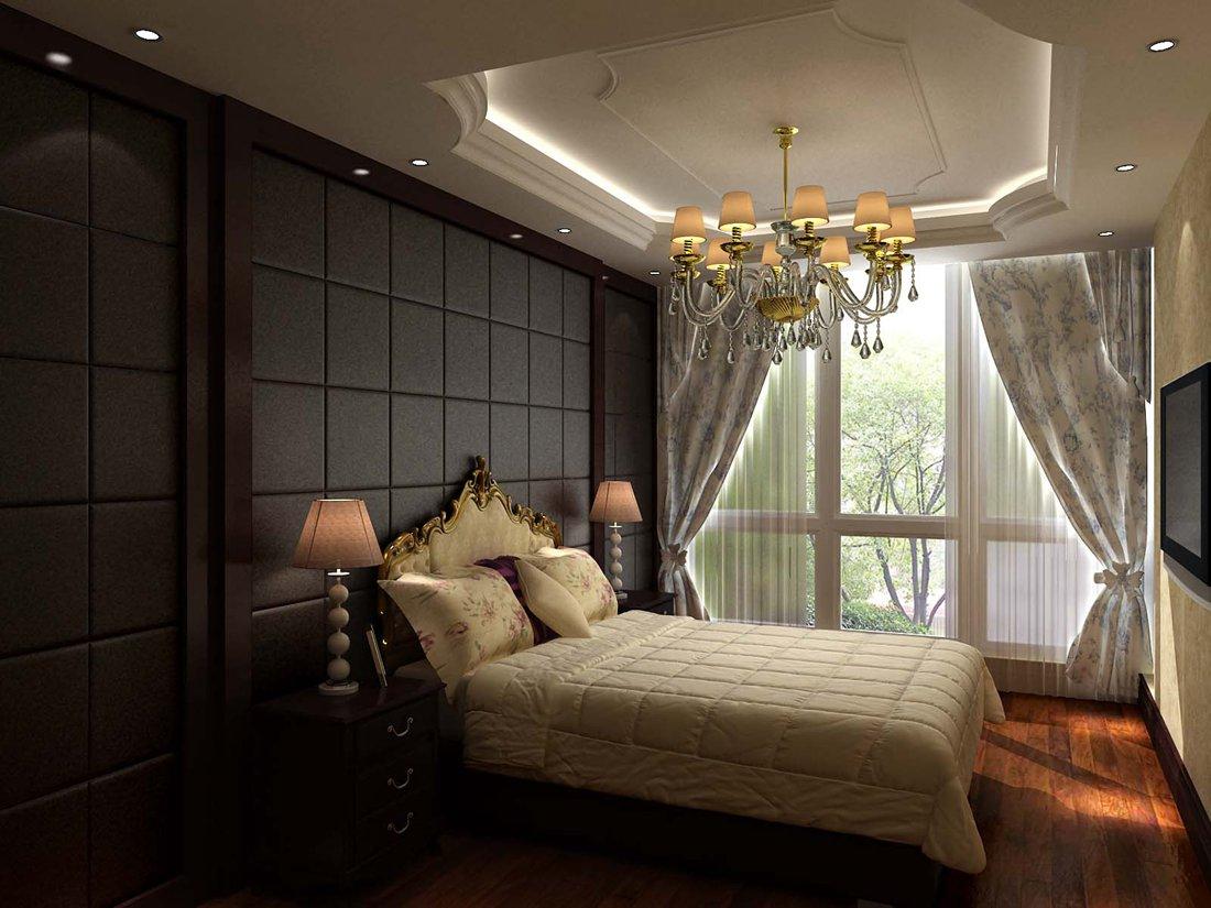 欧美风情别墅卧室灯具装修效果图欣赏