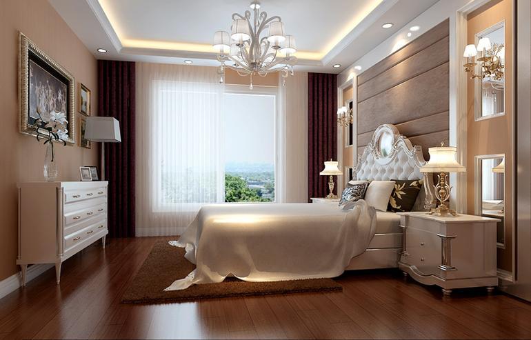 简欧风格一居室卧室吊顶装修效果图