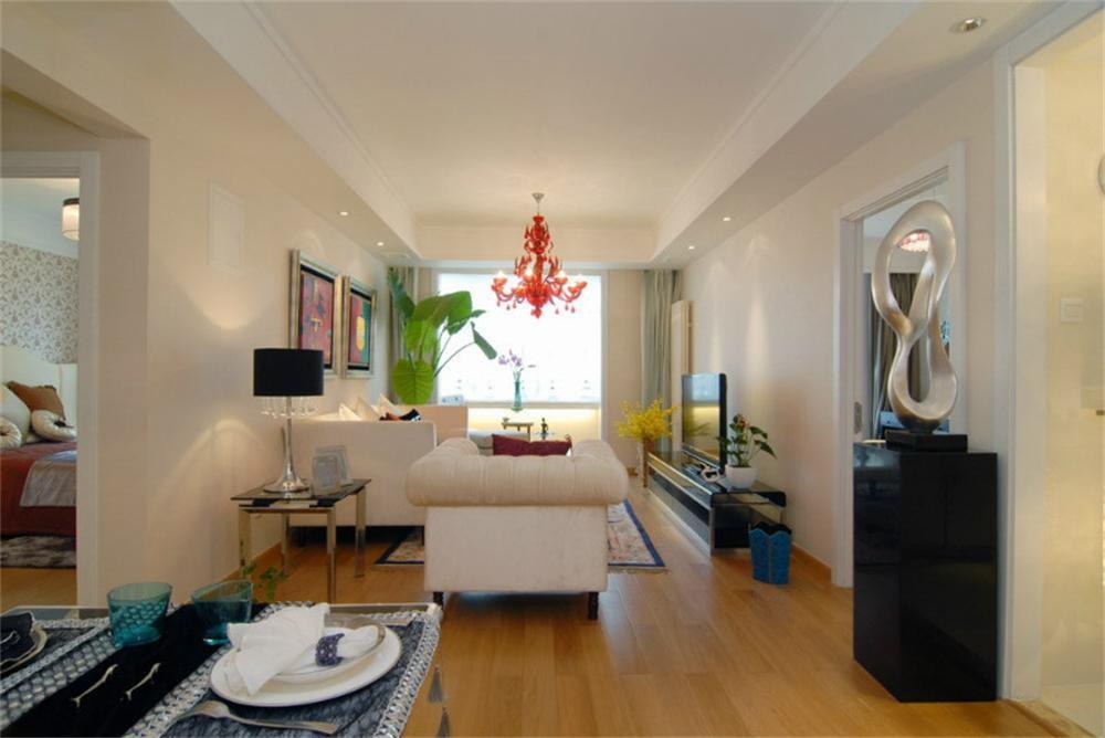 现代简约客厅屏风储物柜效果图