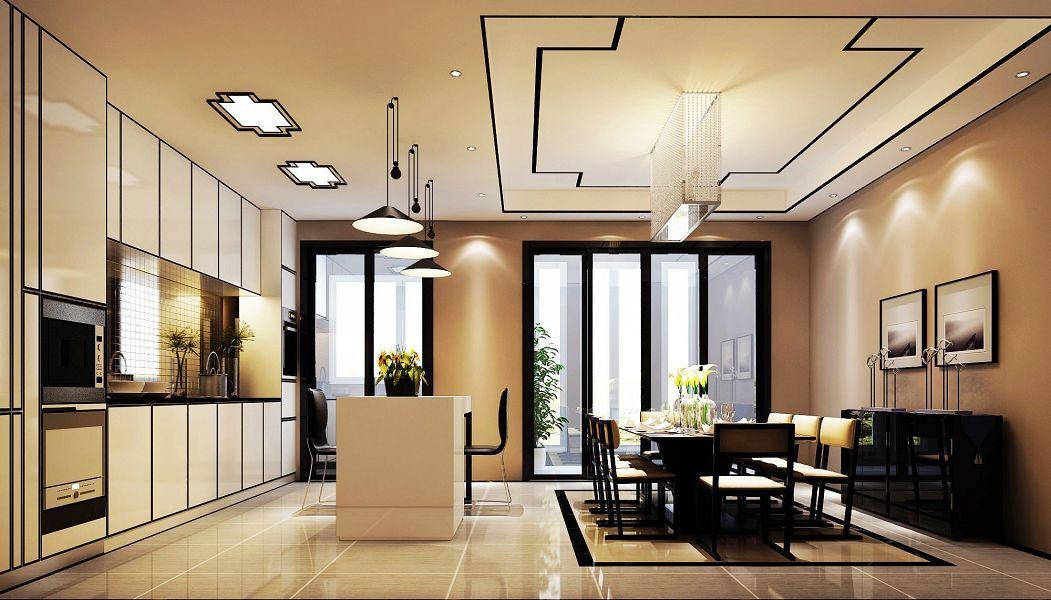五居室餐厅灯具装修图片