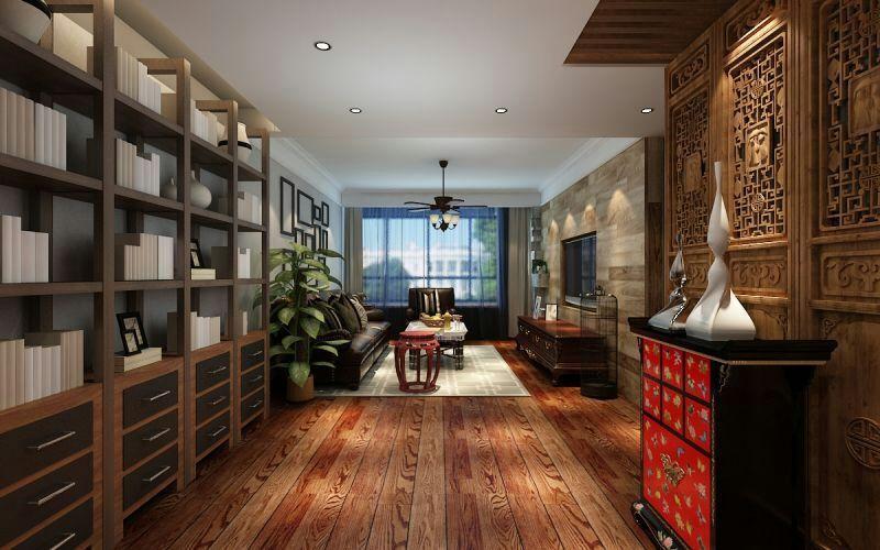 二居室客厅窗帘装修效果图大全2014图片