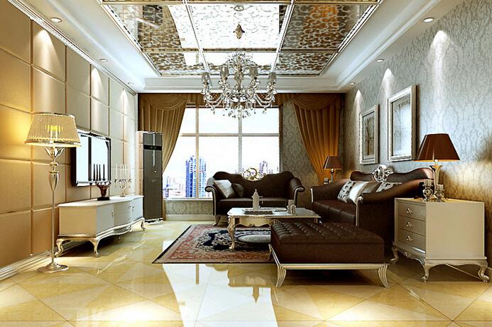 欧美风情六居室以上客厅照片墙装修效果图欣赏