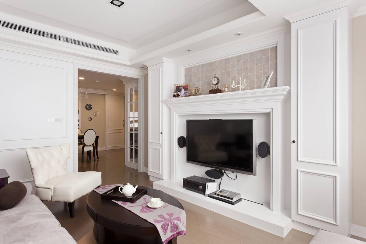 现代简约三居室客厅吊顶装修效果图大全2014图片