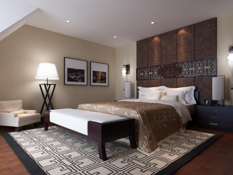 托斯卡纳风格三居室卧室榻榻米装修效果图大全