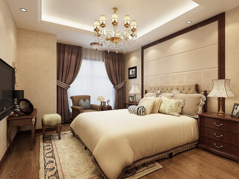 新中式风格卧室窗帘装修效果图大全2015图片