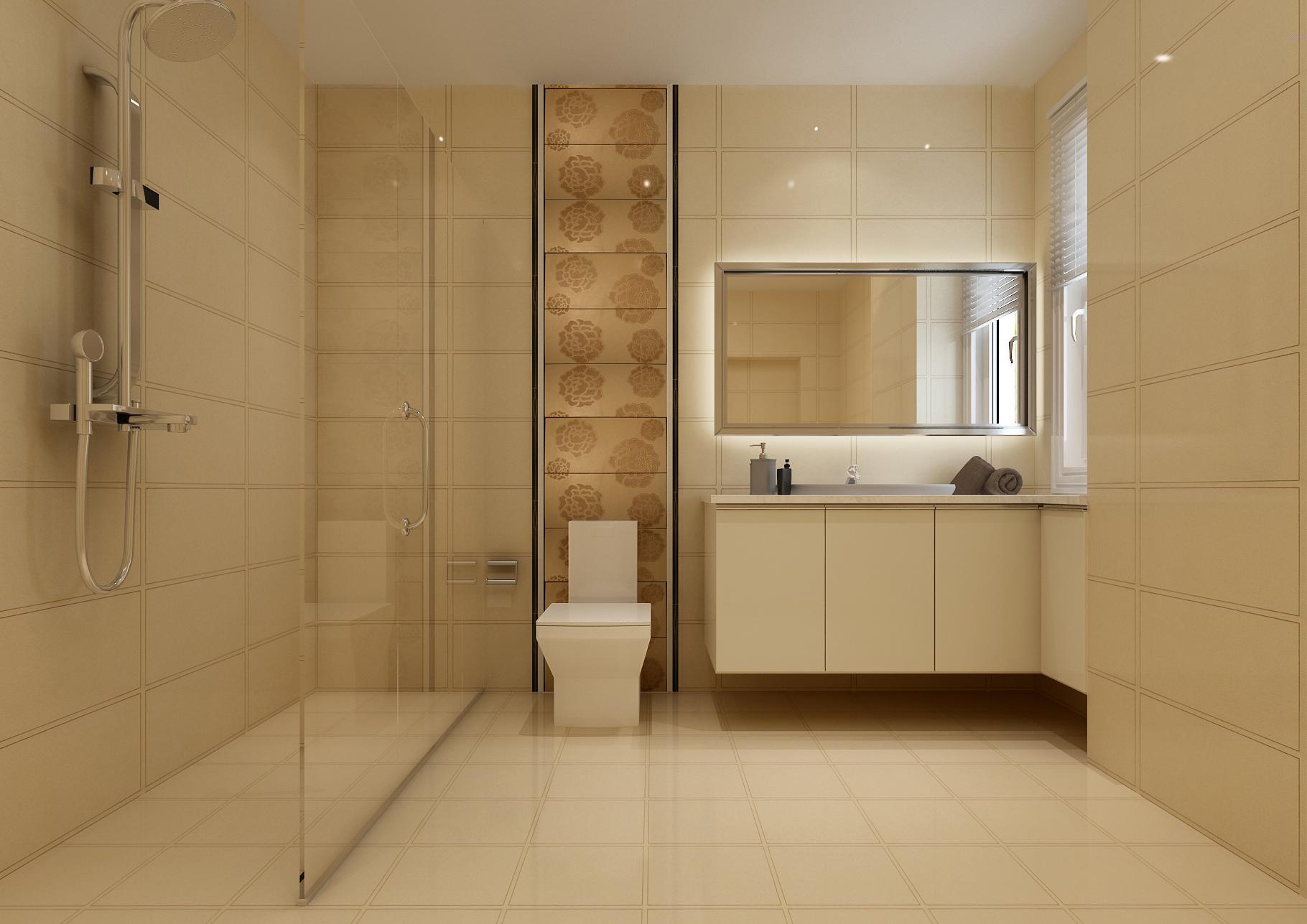 现代简约卫生间装修效果图欣赏